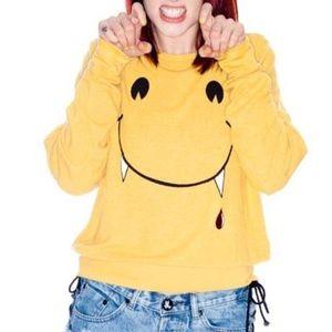 Wildfox Yellow Vampire Sweatshirt 🦇- XS